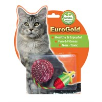 Eurogold Parlaktop & Parlak Fare 2'Li Kedi Oyuncağı