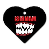 Dalis Pet Tag - Isırmam Diş Desenli Geniş Kalp Kedi Köpek Künyesi (İsimlik)