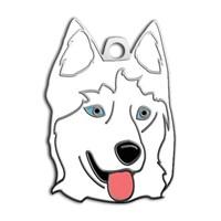 Dalis Pet Tag - Sibirya Kurdu Köpek Künyesi - Beyaz (İsimlik)