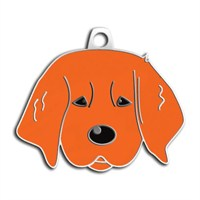 Dalis Pet Tag - Yavru Golden Köpek Künyesi - Kızıl (İsimlik)