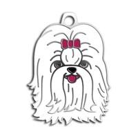 Dalis Pet Tag - Shıh-Tzu Köpek Künyesi - Beyaz (İsimlik)