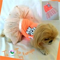Dog Twınkle Tütülü Elbise - Turuncu