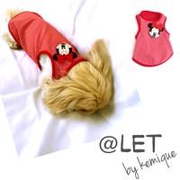 @Let By Kemique - Mınnıe Mouse Atlet - Kırmızı