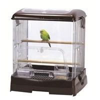 Lilliphut Birds Clear Cage – Muhabbet Kuşu Kafesi Kahverengi