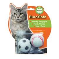 Eurogold Lastik Oyun Topu 2'Li Kedi Oyuncağı 4,7 Cm