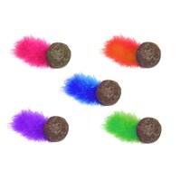 Compressed Catnip Ball W/ Feather ( Kedi Oyuncağı, Kedi Ödülü, Tüketilebilir)