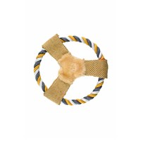 Imac Frısbee In Tessuto Köpek Sesli Naturel Bez Frizbi