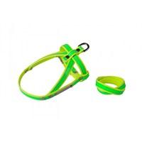 Neon Yeşil-Sarı S Göğüs Tasma/Bileklik