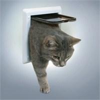 Çift Yönlü Kitlenebilir Kedi Kapısı Beyaz
