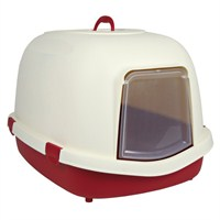 Trixie Kedi Kapalı Kedi Tuvaleti, Filtreli, Bordo/Krem 56 × 47 × 71 cm