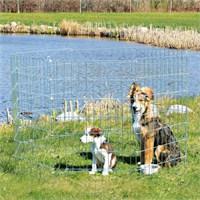 Yavru ve küçük köpek için açık hava oyun alanı