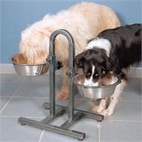 İkili Köpek Mama Kabı Seti Ayaklı 2, 8 Litre