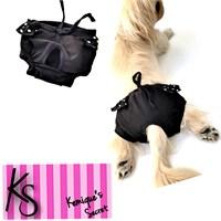 Kemique Köpek İç Çamaşırı - Siyah Puantiyeli Regl Külot Kemique's Secret - Lingerie