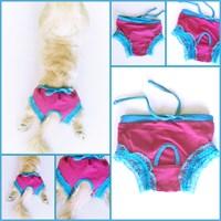 Kemique Mavi Dantelli Köpek İç Çamaşırı - Pembe Regl Külot Kemique's Secret - Lingerie