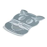 Trixie kedi tuvaleti önü kauçuk paspas gri
