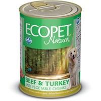 Ecopet Biftek&Hindi&Sebze Parça Etli Köpek Konservesi 405 Gr