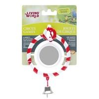 Living World Zilli Aynalı Kuş Oyuncağı Kırmızı Halka