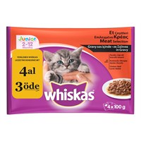 Whiskas Pouch Multipack Yavru yaş Kedi maması 100 Gr 4 Al 3 öde