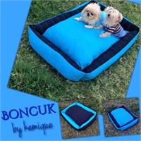Kemique Mavi Boncuk Köpek Yatağı 2X-Large