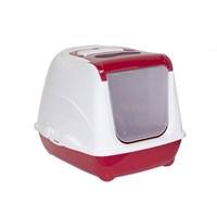 Moderna Flip Kapalı Kedi Tuvaleti Kırmızı (56X45x39)