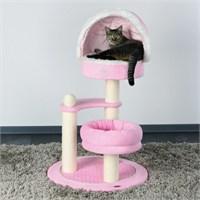 Trixie kedi oyun & tırmalama evi 105 cm, pembe