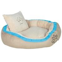 Trixie köpek yatağı, 100x70cm, bej/turkuaz