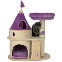 Trixie kedi oyun tırmalama kalesi 90 cm, bej/lila