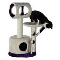 Trixie kedi oyun tırmalama evi 75 cm, bej / mor