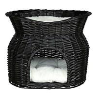 Trixie İki Katlı Kedi Yatağı, 54X43x37cm Siyah