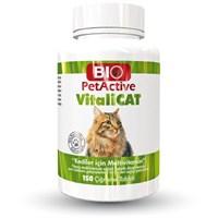 Biopetactive Çiğneme Tableti Vitalicat (Kediler İçin Multivitamin Tablet) 75Gr