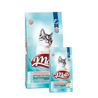 Molly 15 Kg Light-Sterilised Somonlu Kedi Maması