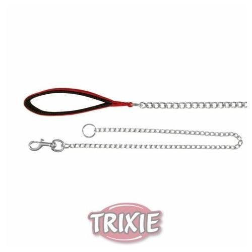 Trixie Siyah Köpek Gezdirme Tutmaçlı Zincir Uzatma 1mx4mm