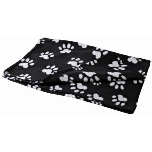 Trixie Polarlı Köpek Battaniyesi 150x100cm Siyah-Gri Rengi