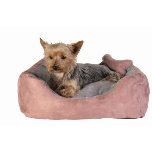 Trixie köpek kedi yatağı 50×40 cm, pembe/gri