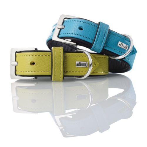 Hunter Yumuşak Dokulu Deri Köpek Boyun Tasması 2,8- 33-39 Cm Mavi