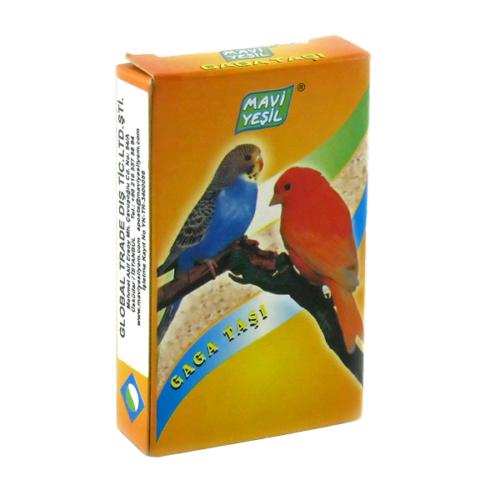Mavi Yeşil Muhabbet Kuşu ve Kanarya Gaga Taşı