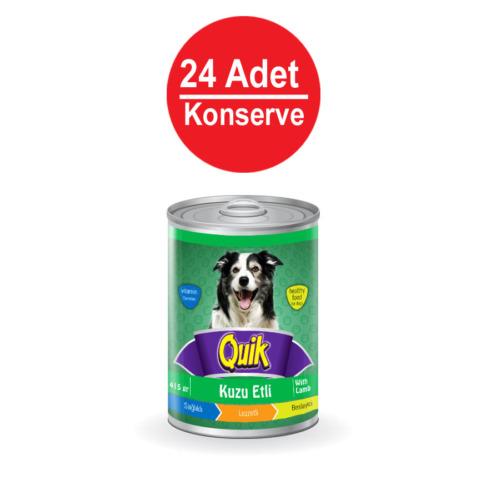 Quik Köpek Kuzu Etli Konserve 415 Gr X 24'Lü