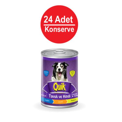 Quik Köpek Tavuk-Hindi Konservesi 415 Gr X 24'Lü