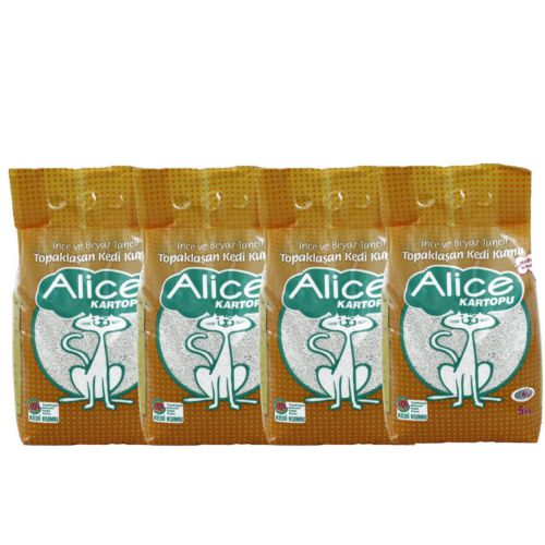 Alice İnce ve Beyaz Taneli Topaklaşan Kedi Kumu 20 Kg
