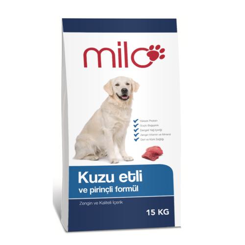 Milo Kuzu Etli & Pirinçli Yetişkin Köpek Maması 15 Kg 54,89 TL