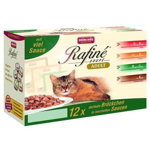 Animonda Rafine Multipack Pouch Konserve Kedi Maması No:1 100 Gr (12 Adet)