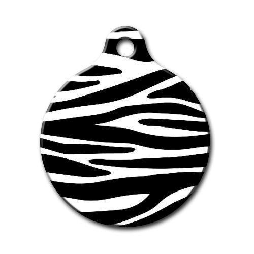 Dalis Pet Tag - Zebra Desenli Yuvarlak Kedi Köpek Künyesi