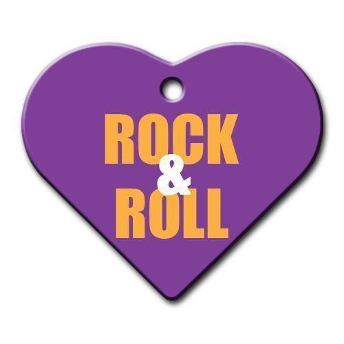 Dalis Pet Tag - Rock Roll Geniş Kalp Kedi Köpek Künyesi