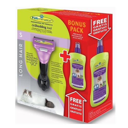 Furminator Uzun Tüylü Kediler İçin Temizlenebilir Tarak - Kuru Şampuan