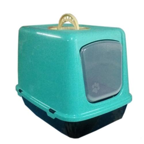 Happy Paws Kapalı Kedi Tuvaleti Turkuaz 50 X 40 X 36Cm