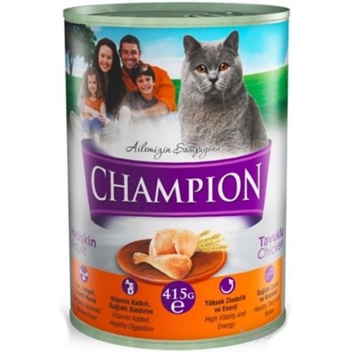 Champion 24 Adet Kümes Hayvanlı Kedi Konservesi 415 Gr