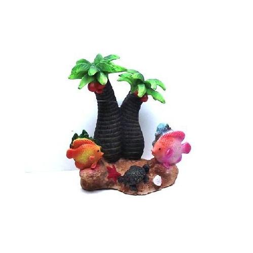 Chicos-Dekor Dekoratif Akvaryum Aksesuarı Coco Palm