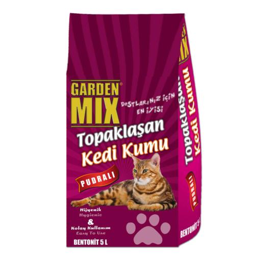Garden Mix 5 L Pudralı Compact İnce Tane Kedi Kumu