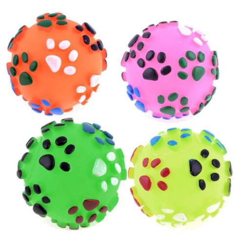 Bobo Kedi Köpek Sesli Plastik Oyun Topu Orta