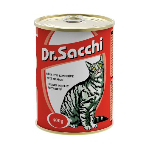 Dr.Sacchi Kedi Konserve Sığır Etli 400 gr gk*